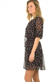 Aaiko | Dress with print Ceska | black  | Picture 4