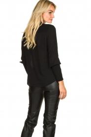 Aaiko |  Smocked blouse Sagari | black  | Picture 4