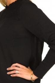 Aaiko |  Smocked blouse Sagari | black  | Picture 5