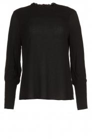 Aaiko |  Smocked blouse Sagari | black  | Picture 1