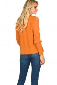 Aaiko |  Smocked blouse Sagari | burnt orange  | Picture 5