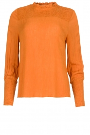 Aaiko |  Smocked blouse Sagari | burnt orange  | Picture 1