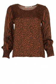 Aaiko |  Top with panther and zebra print Medelin | animal print  | Picture 1