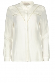 Aaiko |  Blouse with lace details Vilou | white  | Picture 1