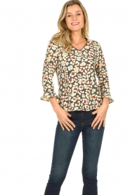 Aaiko |  Blouse with print Mardez | multi  | Picture 1