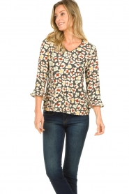 Aaiko |  Blouse with print Mardez | multi  | Picture 2