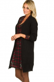 Aaiko |  Knitted  cardigan | black  | Picture 4