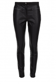 Aaiko |  Leather pants Persy | black  | Picture 1