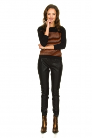 Aaiko |  Leather pants Persy | black  | Picture 3