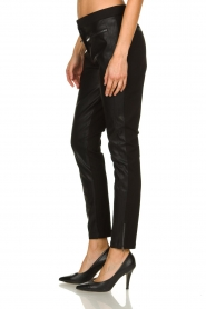 Aaiko |  Leather pants Persy | black  | Picture 4