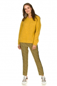 Aaiko |  Pants with zebra print Parien | yellow  | Picture 5
