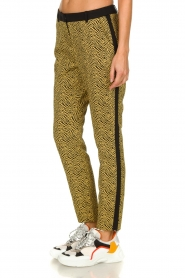 Aaiko |  Pants with zebra print Parien | yellow  | Picture 2