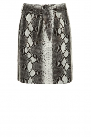Aaiko |   Faux leather snake print skirt Patia | animal print  | Picture 1