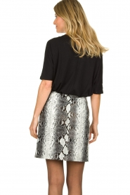 Aaiko |   Faux leather snake print skirt Patia | animal print  | Picture 6