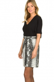 Aaiko |   Faux leather snake print skirt Patia | animal print  | Picture 5