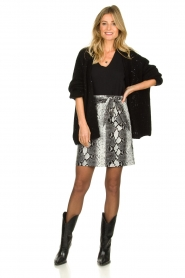 Aaiko |   Faux leather snake print skirt Patia | animal print  | Picture 3