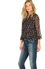 Aaiko | Blouse with print Charley | black  | Picture 4