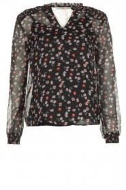 Aaiko | Blouse with print Charley | black  | Picture 1