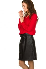Aaiko |  Faux leather skirt with belt Patia | black  | Picture 4