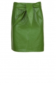 Aaiko |  Faux leather pencilskirt | green  | Picture 1