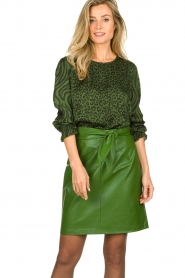 Aaiko |  Faux leather pencilskirt | green  | Picture 2