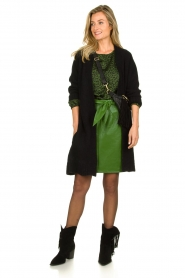 Aaiko |  Faux leather pencilskirt | green  | Picture 3