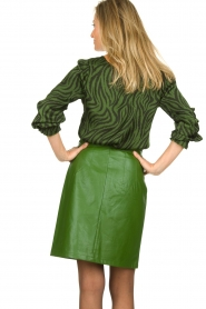Aaiko |  Faux leather pencilskirt | green  | Picture 5