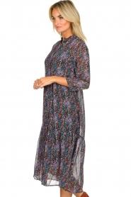 Aaiko |  Animal print midi dress Dione | black  | Picture 5