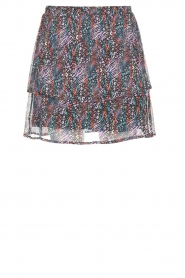 Aaiko |  Animal print skirt Lena | black  | Picture 1