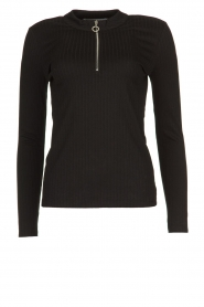 Aaiko |  Sweaterwith zipper Zere | black  | Picture 1