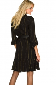 Aaiko | Dress with lurex stripes Vienna | black  | Picture 5