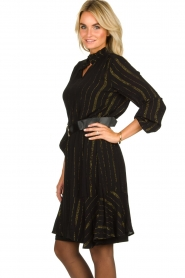 Aaiko | Dress with lurex stripes Vienna | black  | Picture 4
