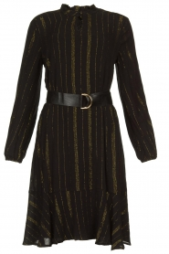 Aaiko | Dress with lurex stripes Vienna | black  | Picture 1