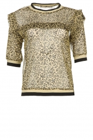 Aaiko |  Leopard print top with lurex Inea | gold  | Picture 1