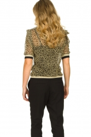 Aaiko |  Leopard print top with lurex Inea | gold  | Picture 5