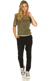 Aaiko |  Leopard print top with lurex Inea | gold  | Picture 3
