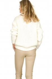Aaiko | Knitted sweater Trilly | white  | Picture 4