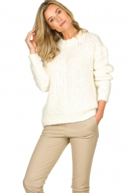 Aaiko | Knitted sweater Trilly | white  | Picture 3