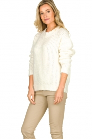 Aaiko | Knitted sweater Trilly | white  | Picture 5