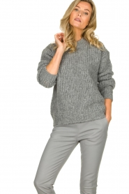 Aaiko | Knitted sweater Trilly | grey  | Picture 2