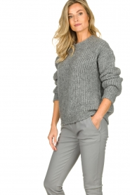 Aaiko | Knitted sweater Trilly | grey  | Picture 4