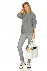 Aaiko | Knitted sweater Trilly | grey  | Picture 3