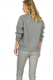 Aaiko | Knitted sweater Trilly | grey  | Picture 5