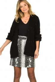Aaiko |  Knitted cardigan Dylene | black  | Picture 4