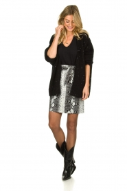 Aaiko |  Knitted cardigan Dylene | black  | Picture 3