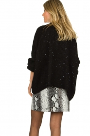 Aaiko |  Knitted cardigan Dylene | black  | Picture 6