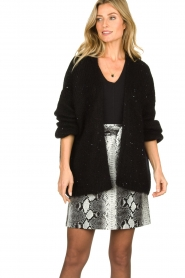 Aaiko |  Knitted cardigan Dylene | black  | Picture 2