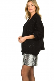 Aaiko |  Knitted cardigan Dylene | black  | Picture 5