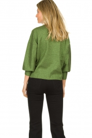 Aaiko |  Glitter sweater Verona | green  | Picture 5