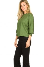Aaiko |  Glitter sweater Verona | green  | Picture 4